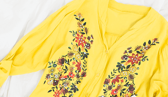 modne ubrania w kwiaty