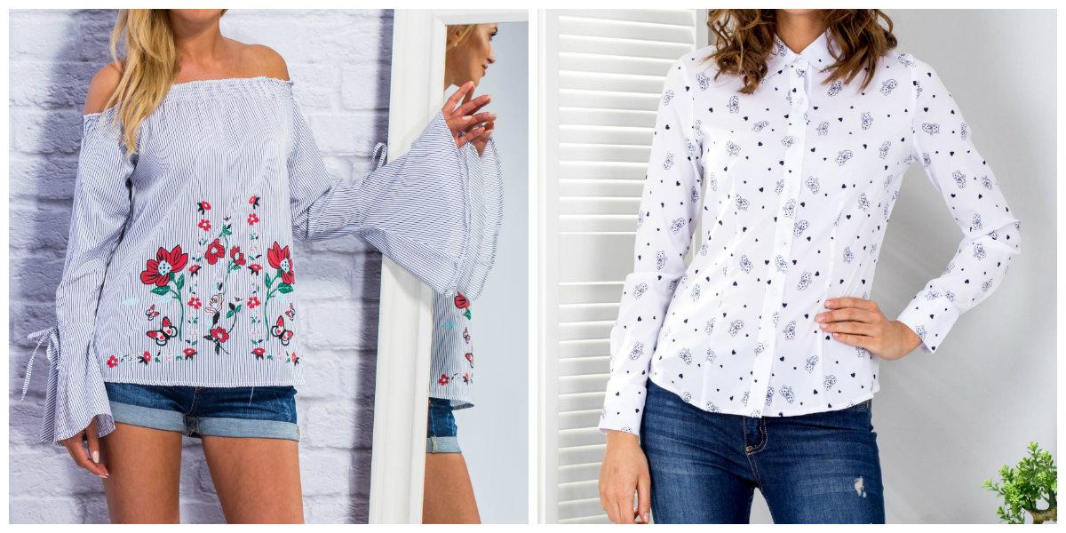 koszule damskie we wzory